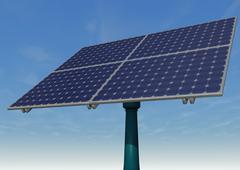 solar panel blue sky - stock illustration
