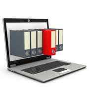 Stock Illustration of notebook seven folders red folder