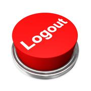logout button - stock illustration