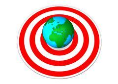 earth target - stock illustration