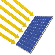 Solar panel sunlight Stock Illustration