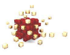 abstract cube 3d - stock illustration
