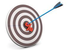 target arrow sale - stock illustration