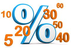 percent with numbers - stock illustration