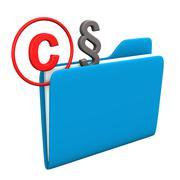 folder copyright paragraph - stock illustration