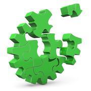 green gear - stock illustration