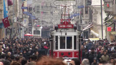 Istanbul  Istiklal Tram - stock footage