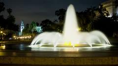 Balboa Park Fountain Time Lapse Stock Footage
