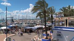 Sunday market, Costa del Sol Stock Footage