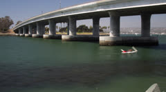 Mission Bay Bridge San Diego Boats TimeLapse Stock Footage