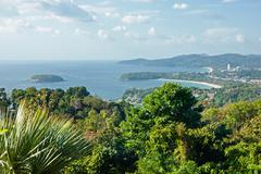 Stock Photo of view of the andaman sea from the viewing point, phuket