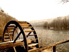 Watermill wheel Stock Photos