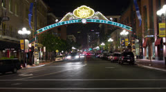 Gas Lamp Downtown San Diego Time Lapse Stock Footage