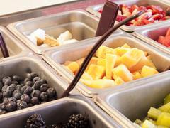 Frozen yogurt topping Stock Photos