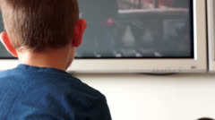 Child watch television Stock Footage
