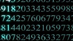 Einstein number - stock footage