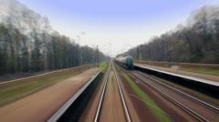Railroad Timelapse - stock footage