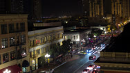 Stock Video Footage of Downtown Gas Lamp San Diego Time Lapse