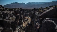 Time Lapse of Fossil Falls California Desert - 4k Stock Footage