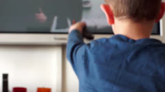 child watch television - stock footage
