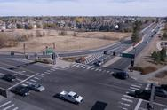 Stock Photo of intersection in suburb