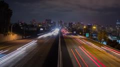 Freeway San Diego Time Lapse Night Stock Footage