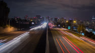 Stock Video Footage of Freeway San Diego Time Lapse Night