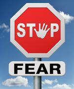 Stop fear Stock Illustration