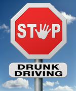 Stop drunk driving Stock Illustration