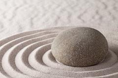 zen meditation garden - stock photo