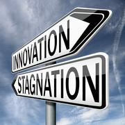 Stock Illustration of innovation or stagnation