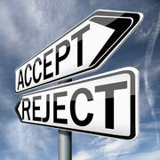accept or refuse - stock illustration