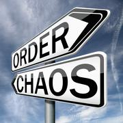 order or chaos - stock illustration