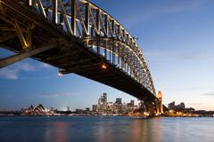 Harbor bridge in Sydney Stock Photos