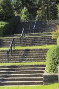 Stock Photo of rose garden stairs