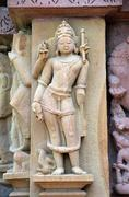Carvings on temple walls at khajuraho ad 930-950 Stock Photos