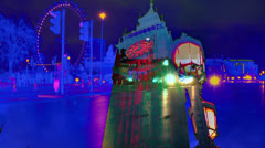Central london time lapse blend Stock Footage