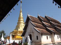 wat prathat chahang temple - stock photo