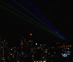 Stock Video Footage of laser lights across new haven sky close