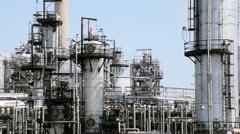 Pipes in a Refinery Stock Footage