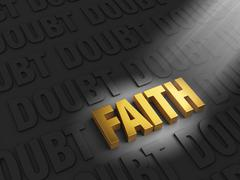 Stock Illustration of faith amongst doubt