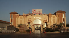 Entrance to the Sea Breeze Hotel in Sharm-el-Sheikh Stock Footage