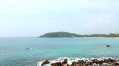View from the coastline in Mirissa Beach. Stock Footage