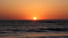 Sunset Over Monterey Bay Stock Footage