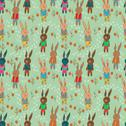 Stock Illustration of seamless cartoon background with funny hare
