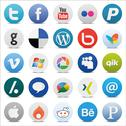 Stock Illustration of Social media Icons