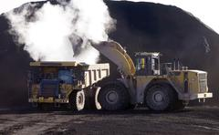 Steaming load of coal Stock Photos