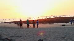 Beach Sunset Timelapse Stock Footage
