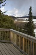 scenic alaskan deck - stock photo
