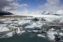 Alaskan glacial flow Stock Photos